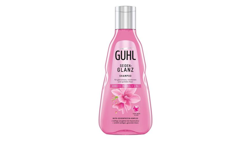 GUHL Shampoo Seidenglanz Kobushi Magnolie Oel mit Nutri Seidenprotein Komplex