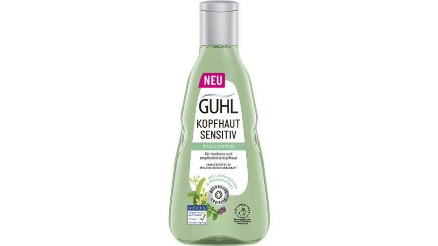 GUHL Shampoo Kopfhaut Sensitiv Weisser Tee Wasserminze