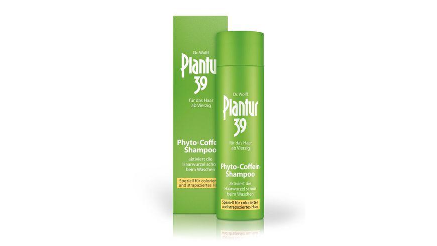 Plantur 39 Phyto Coffein Shampoo fuer coloriertes strapaziertes Haar