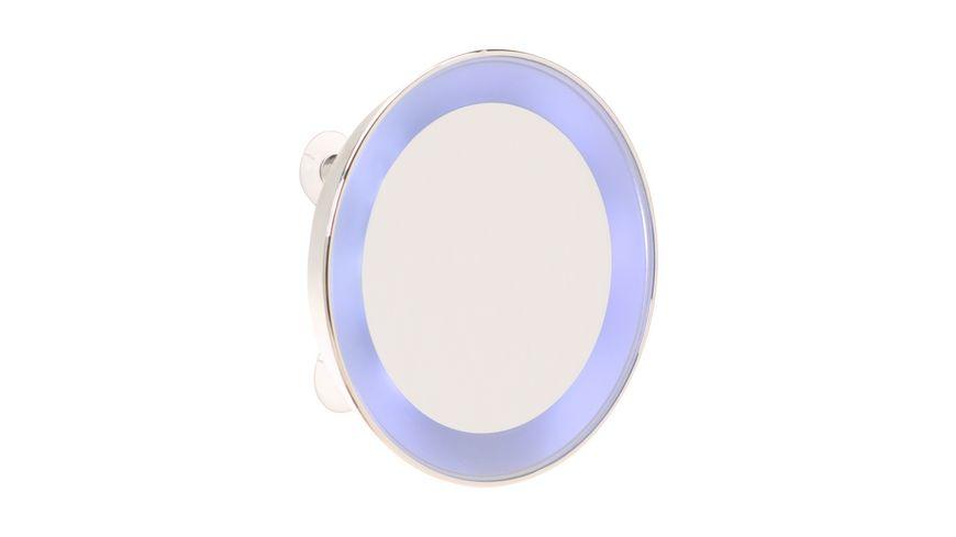 Spiegel Linse 10 fach Vergroesserung silber mit LED