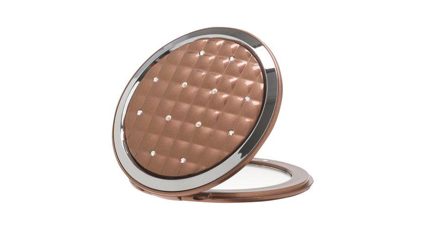 Taschenspiegel taupe Swarovski