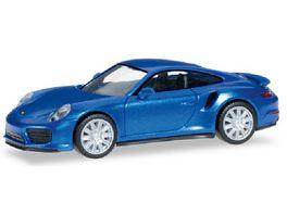 Herpa 038614 Porsche 911 Turbo saphierblaumetallic