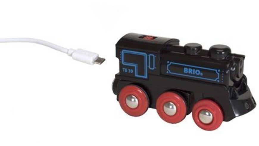 BRIO Bahn Schwarze Akku Lok mit Mini USB