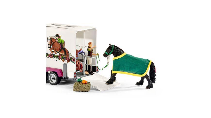 Schleich Horse Club Pick up mit Pferdeanhaenger