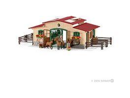 Schleich Farm World Pferdestall mit Pferden und Zubehoer
