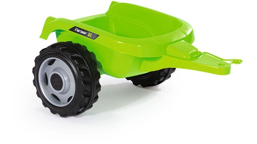 Smoby Traktor Farmer XL Gruen mit Anhaenger