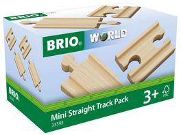 BRIO Bahn 1 4 Ausgleichsschienen Mix