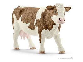 Schleich 13801 Farm World Bauernhoftiere Fleckvieh Kuh