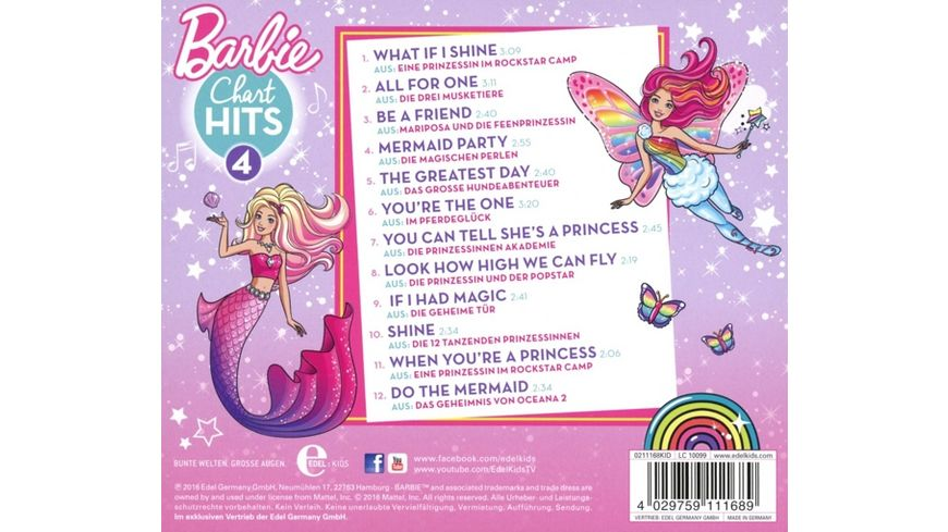 Barbie Chart Hits Vol 4 Die Schoensten Filmsongs