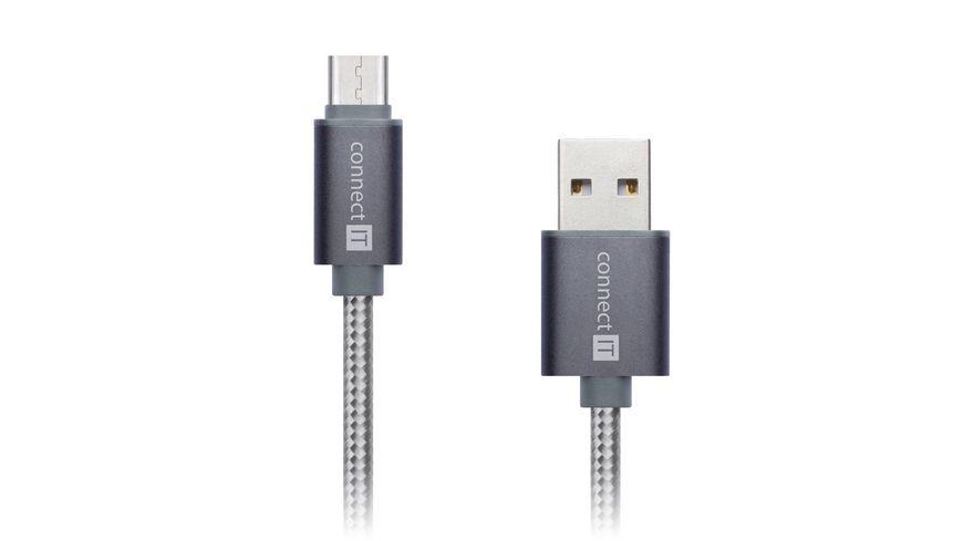 Kabel Typ C auf USB Premium Qualitaet 1 Meter Farbe Space Grey