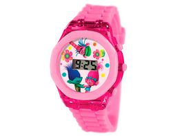 Joy Toy Trolls LCD Uhr mit Flash Licht in ovaler Geschenkverpackung
