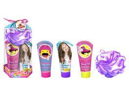 Air Val Soy Luna Geschenk Set inkl Duschgel Shampoo Body Lotion und Badeschwamm