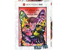Heye Standardpuzzle 1000 Teile 9 Lives Dean Russo