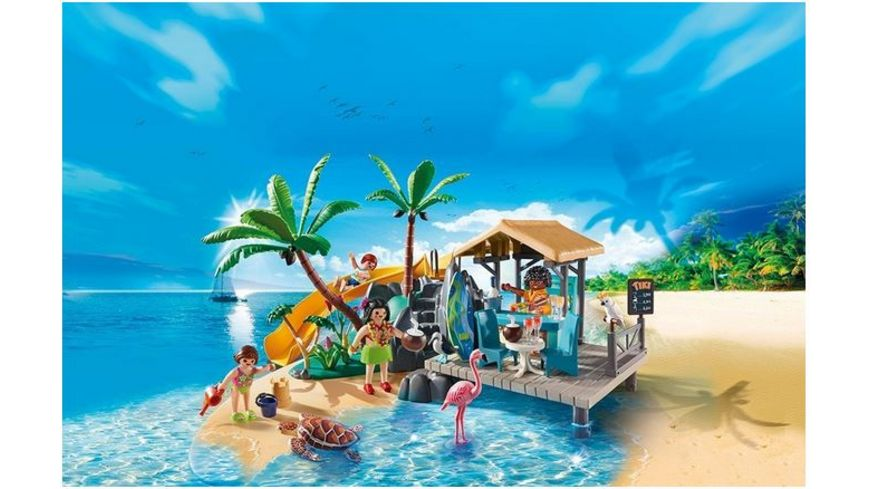 PLAYMOBIL 6979 Family Fun Karibikinsel mit Strandbar