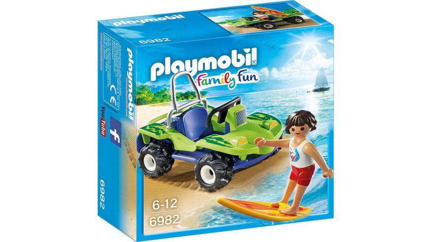 PLAYMOBIL 6982 Family Fun Surfer mit Strandbuggy