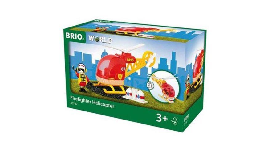 BRIO Bahn Feuerwehr Hubschrauber