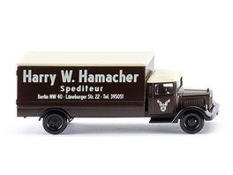 Wiking 094407 Koffer Lkw MB L 2500 Sped Hamacher Spur N