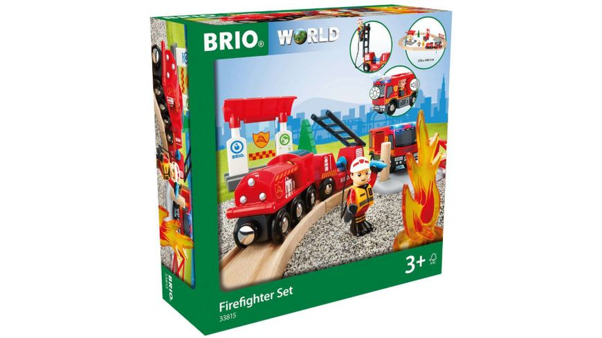 BRIO Bahn - Feuerwehr Set