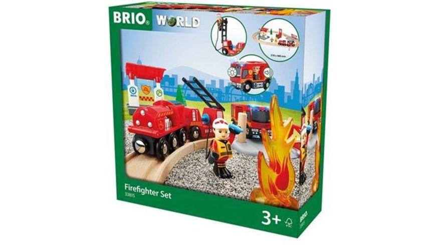 BRIO Bahn Feuerwehr Set