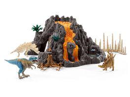 Schleich Dinosaurier Riesenvulkan mit T Rex