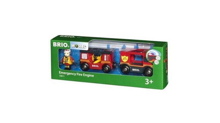 BRIO Bahn Feuerwehr Leiterfahrzeug mit Licht und Sound