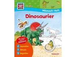 Buch Tessloff Was ist Was Malen Raetseln mehr Mitmach Heft Dinosaurier