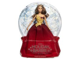 Mattel Barbie Collector 2016 Holiday Barbie Bruenett im roten Kleid