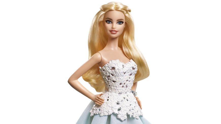 Mattel Barbie Collector 2016 Holiday Barbie Blond im gruenen Kleid