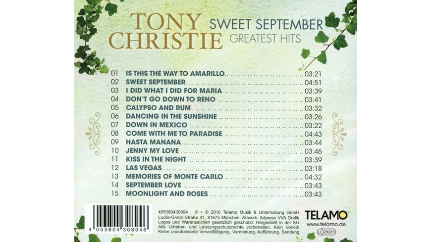 Sweet September Greatest Hits