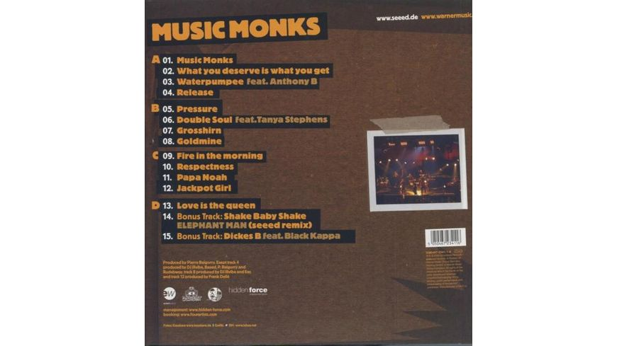 Music Monks Incl Bonustracks