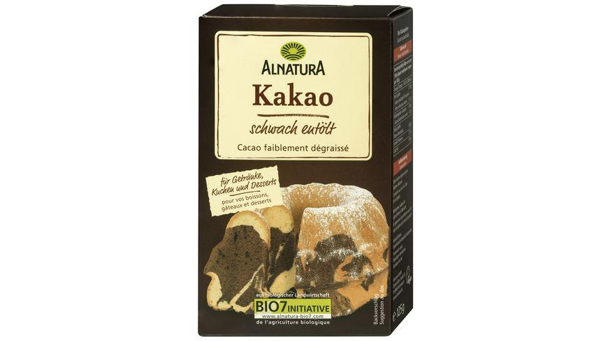 Alnatura Kakao, schwach entölt