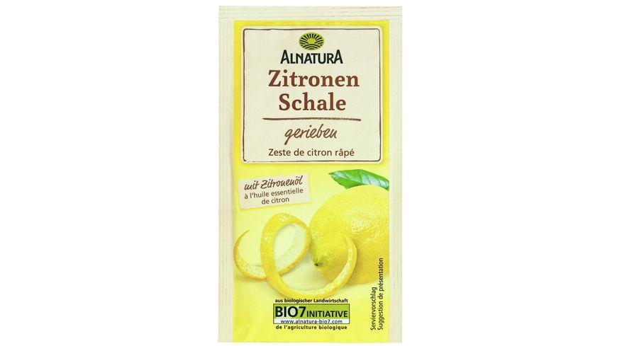 Alnatura Zitronenschale gerieben
