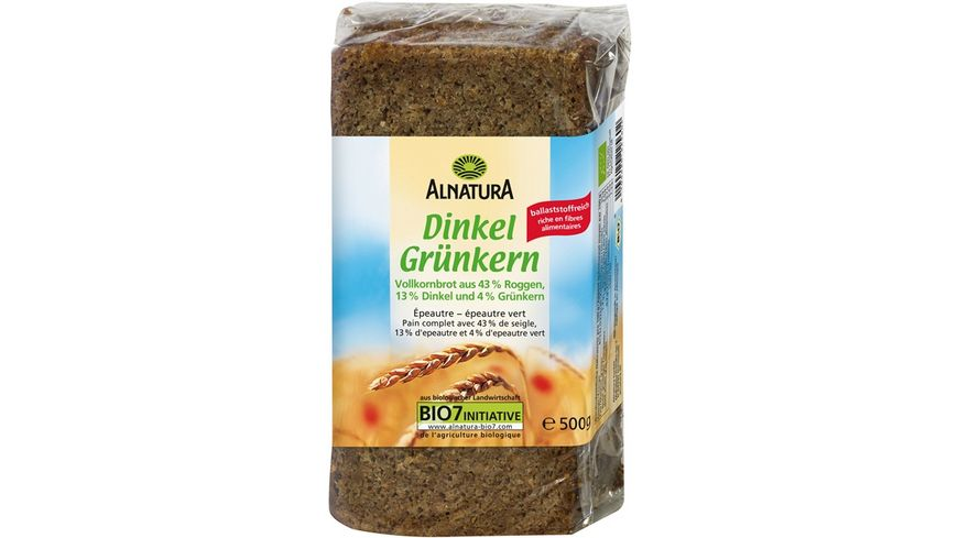 Alnatura Dinkel Grünkern Brot 500G