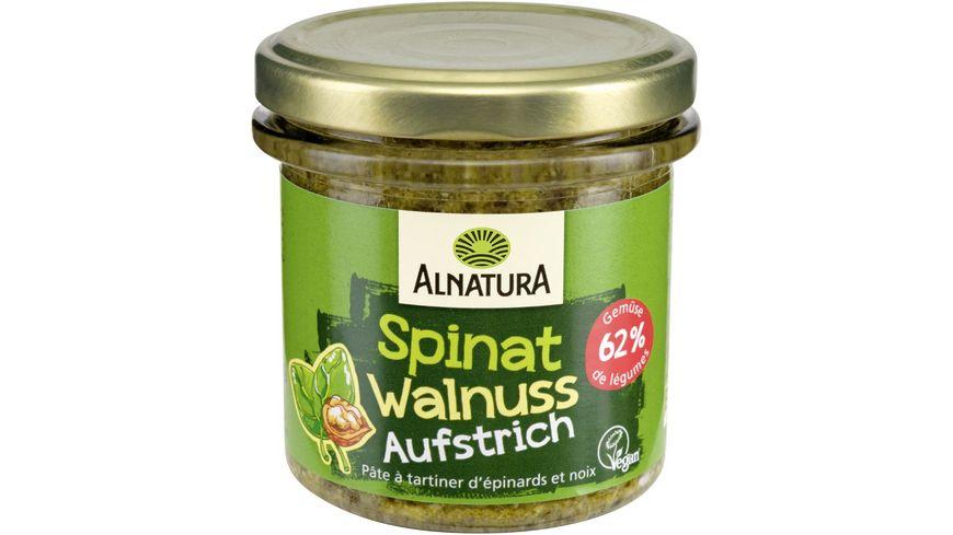 Alnatura Brotaufstrich Gartengemüse Spinat Walnuss