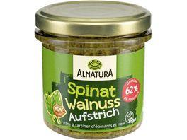 Alnatura Brotaufstrich Gartengemuese Spinat Walnuss