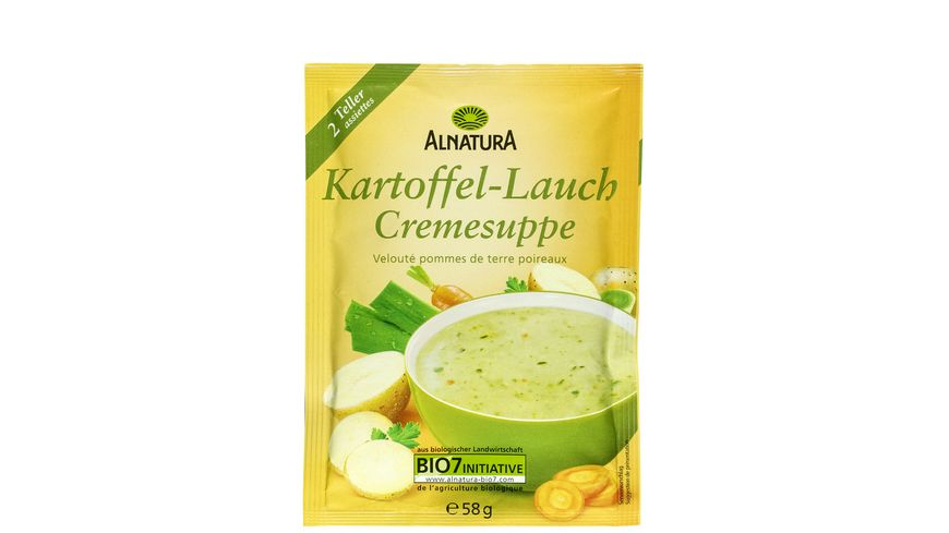 Alnatura Kartoffel Lauch Suppe