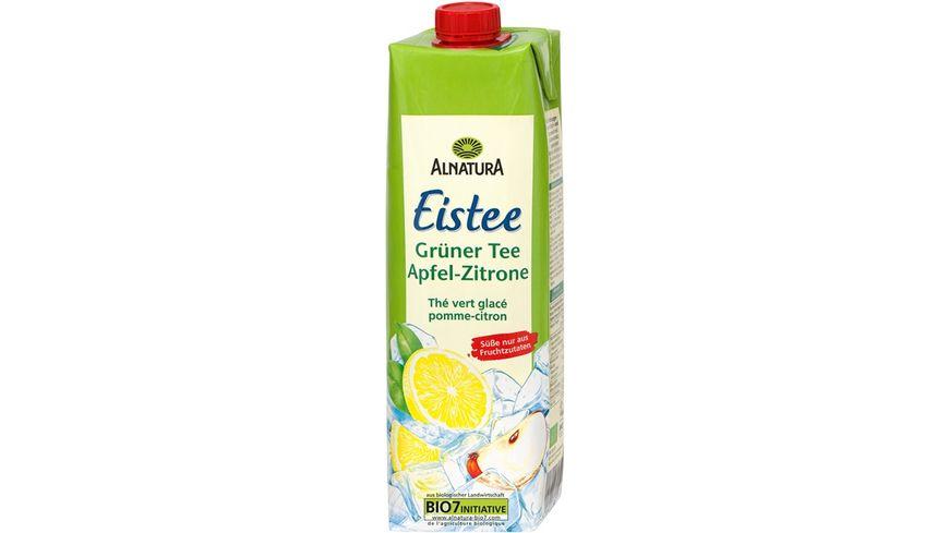 Alnatura Eistee Grüner Tee Apfel-Zitrone 1L