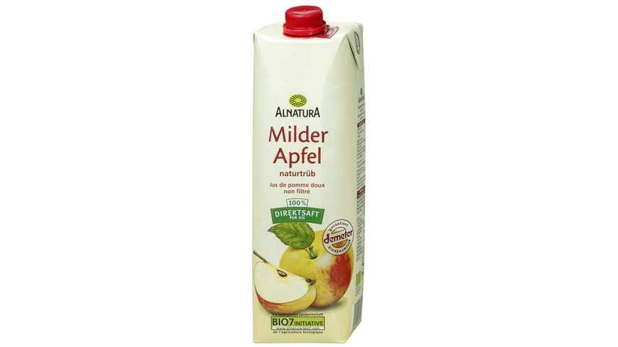 Alnatura Milder Apfelsaft naturtrueb 1l
