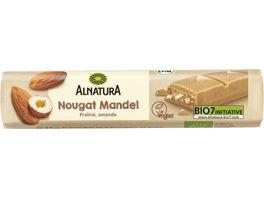 Alnatura Nougat Mandel Riegel vegan 35G
