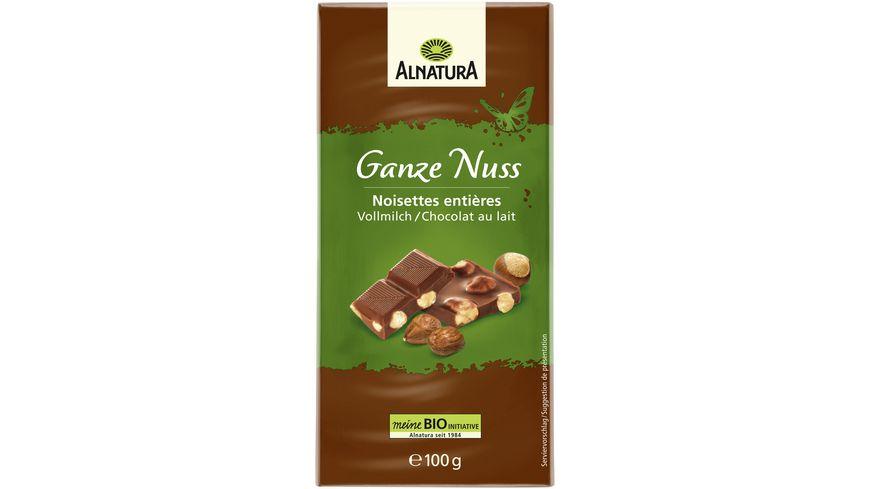 Alnatura Vollmilch Schokolade ganze Nuss