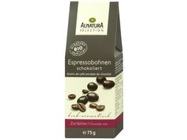 Alnatura Espressobohnen schokoliert Zartbitter