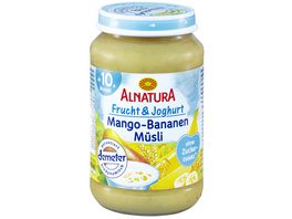 Alnatura Fruechtezubereitung Frucht Joghurt Mango Bananen Muesli