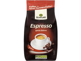 Alnatura Roestkaffee Espresso ganze Bohne