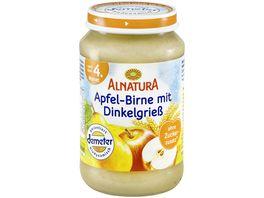 Alnatura Fruechtezubereitung Apfel Birne mit Dinkelgriess