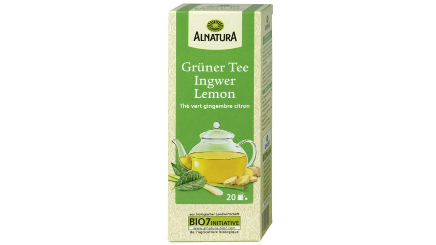 Alnatura Gruener Tee Ingwer Lemon