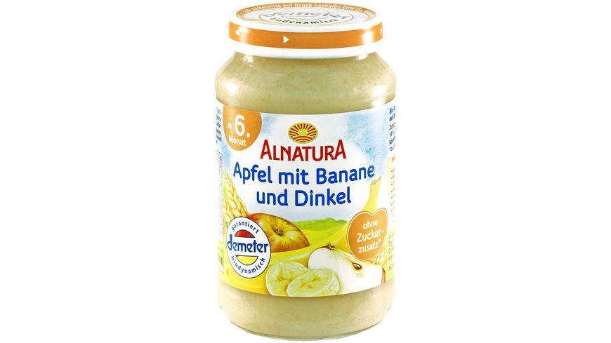 Alnatura Fruechtezubereitung Apfel mit Banane und Dinkel