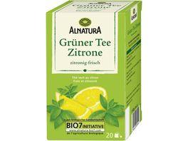 Alnatura Gruener Tee Zitrone 20 Beutel