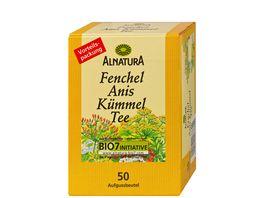 Alnatura Fenchel Anis Kuemmel Tee 50 Beutel