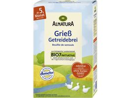 Alnatura Griess Getreidebrei Baby 250G