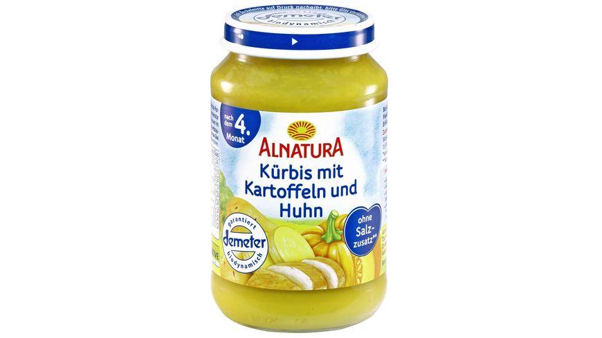 Alnatura Kuerbis mit Kartoffel und Huhn
